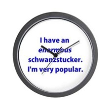 Schwanzstucker Wall Clock