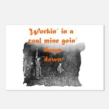 Workin' in a Coal Mine Postcards (Package of 8)
