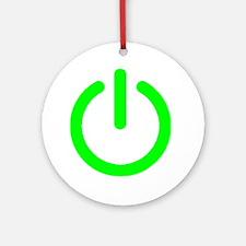 Power Button Ornament (Round)