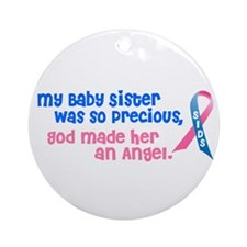 SIDS Angel 1 (Baby Sister) Ornament (Round)
