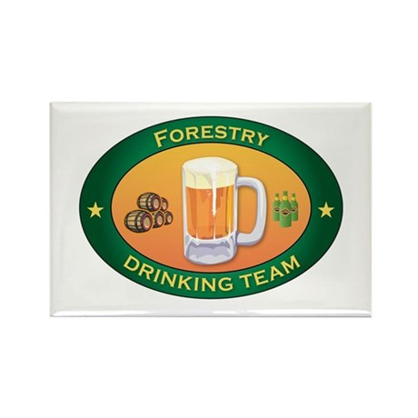 Forestry Team Rectangle Magnet (100 pack)