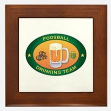 Foosball Team Framed Tile