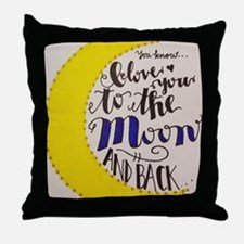 Cute I love you to the moon Throw Pillow