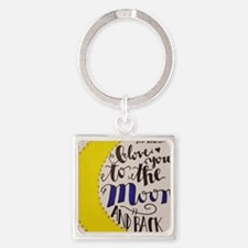 I love you in sign language Square Keychain