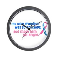 SIDS Angel 1 (Baby Grandson) Wall Clock