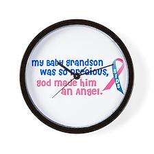 SIDS Angel 1 (Baby Grandson) Wall Clock