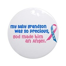SIDS Angel 1 (Baby Grandson) Ornament (Round)