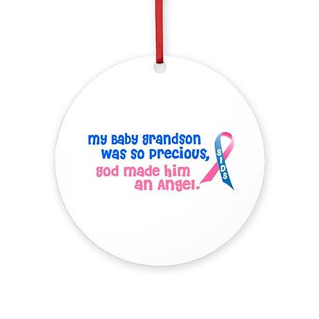 SIDS Angel 1 (Baby Grandson) Ornament (Round)