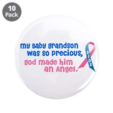 "SIDS Angel 1 (Baby Grandson) 3.5"" Button (10 pack)"