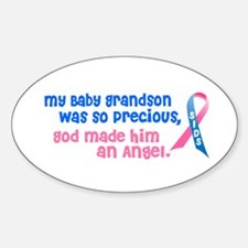 SIDS Angel 1 (Baby Grandson) Oval Decal