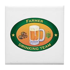 Farmer Team Tile Coaster