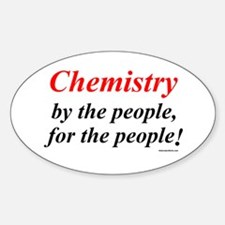 Chemistry People Oval Decal