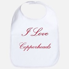 I Love Copperheads Bib