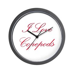 I Love Copepods Wall Clock