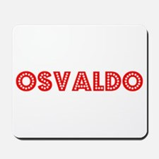 Retro Osvaldo (Red) Mousepad