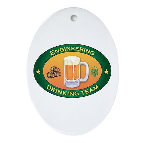 Engineering Team Oval Ornament