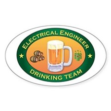 Electrical Engineer Team Oval Decal