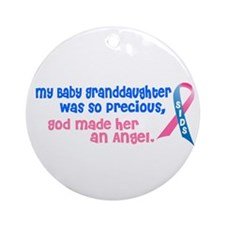 SIDS Angel 1 (Baby Granddaughter) Ornament (Round)