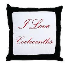 I Love Coelacanths Throw Pillow