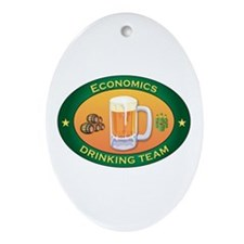 Economics Team Oval Ornament