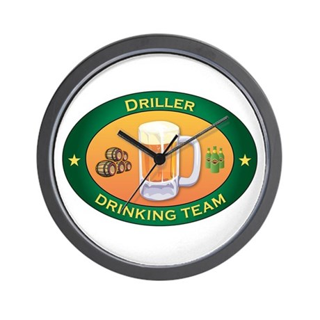 Driller Team Wall Clock