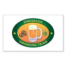 Dressage Team Rectangle Decal