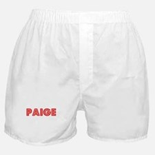 Retro Paige (Red) Boxer Shorts