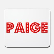 Retro Paige (Red) Mousepad