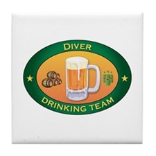 Diver Team Tile Coaster