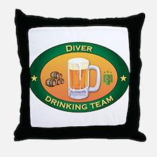 Diver Team Throw Pillow