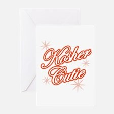 Kosher Cutie - red Greeting Card