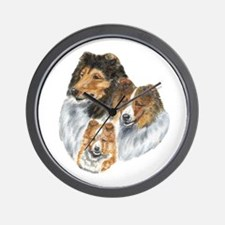 Shetland Sheepdog Sable Wall Clock