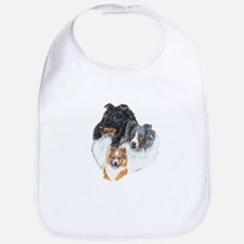 Shetland Sheepdog Three Color Bib