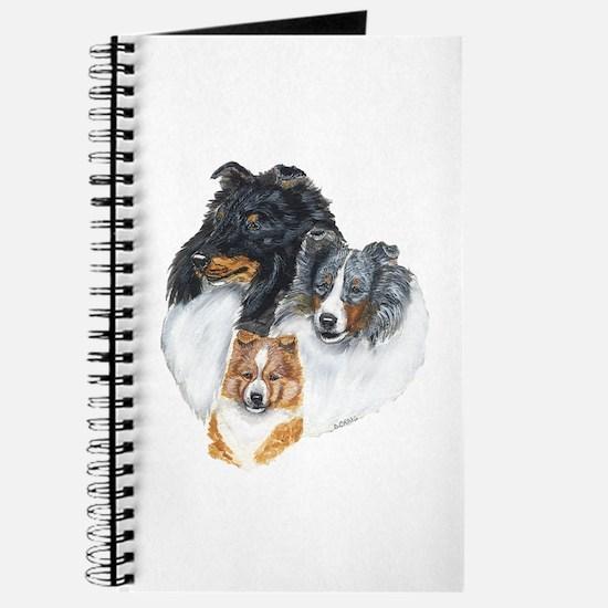Shetland Sheepdog Three Color Journal