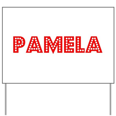 Retro Pamela (Red) Yard Sign