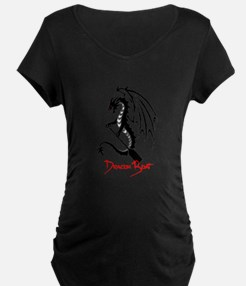 Dragon Boat red Text Maternity T-Shirt