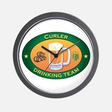 Curler Team Wall Clock