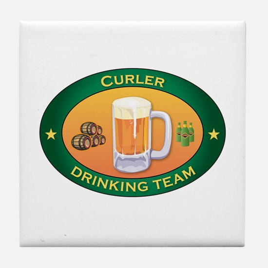 Curler Team Tile Coaster