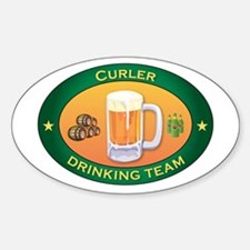 Curler Team Oval Decal