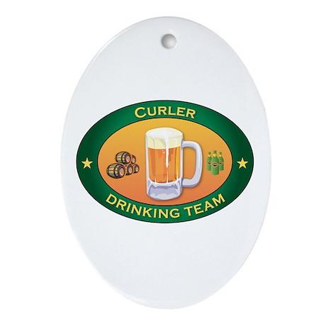 Curler Team Oval Ornament