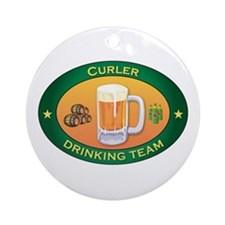 Curler Team Ornament (Round)