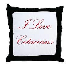 I Love Cetaceans Throw Pillow