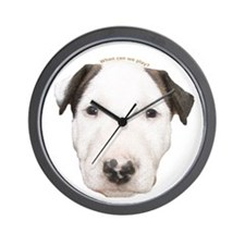 Miniature Bull Terrier Puppy Wall Clock
