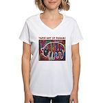 Tapir Mola Women's V-Neck T-Shirt