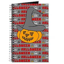 Pumpkin in Halloween Hat Journal