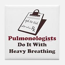 Funny Pulmologist Tile Coaster