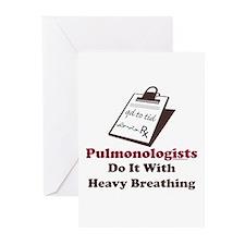 Funny Pulmologist Greeting Cards (Pk of 10)
