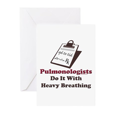 Funny Pulmologist Greeting Cards (Pk of 10)