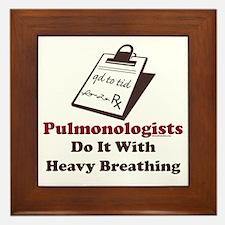 Funny Pulmologist Framed Tile