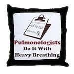 Funny Pulmologist Throw Pillow